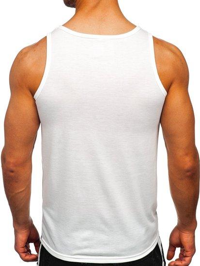 Белая футболка танк топ с принтом Bolf HY813