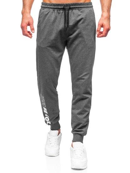 Графитные мужские спортивные брюки Bolf 8624