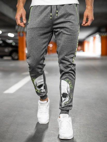 Графитовые мужские спортивные брюки Bolf K10239