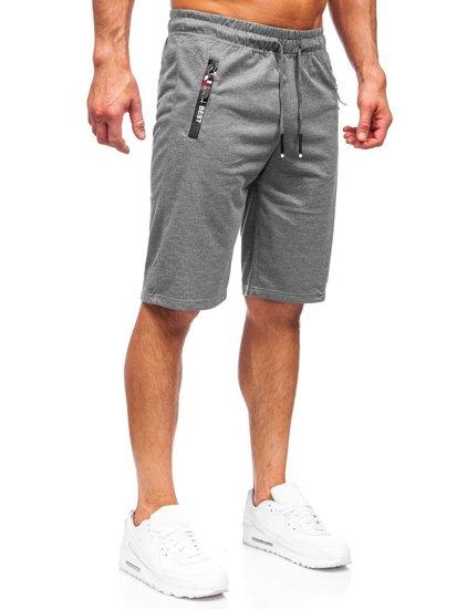 Графитовые мужские спортивные шорты Bolf JX503