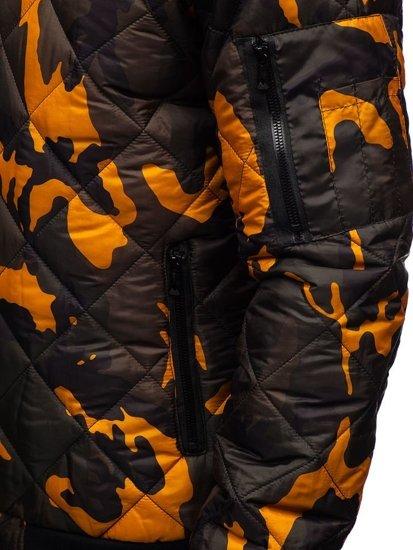 Мужская демисезонная куртка бомбер камуфляж-мультиколор Bolf MY20