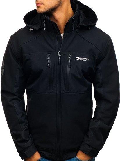 Мужская куртка софтшелл черная Bolf 2139