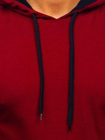 Мужская толстовка с капюшоном бордовая Bolf 145380