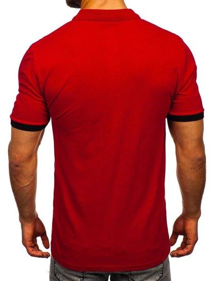 Мужская футболка поло бордовая Bolf 171222-1