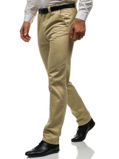 Мужские брюки чиносы бежевые Bolf 6190