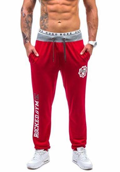 Мужские трикотажные брюки красные Bolf 1044