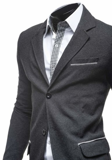 Пиджак мужской COOLBERG 606-K антрацитово-серый