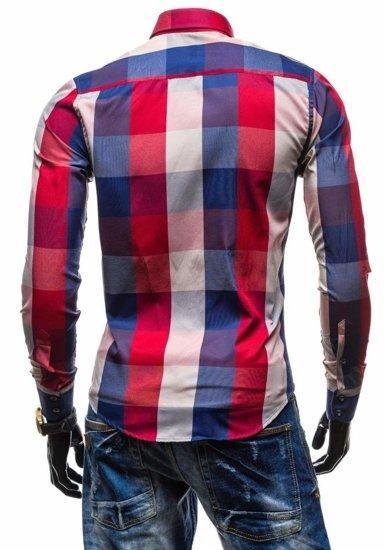 Рубашка мужская BOLF 4701-2 красная