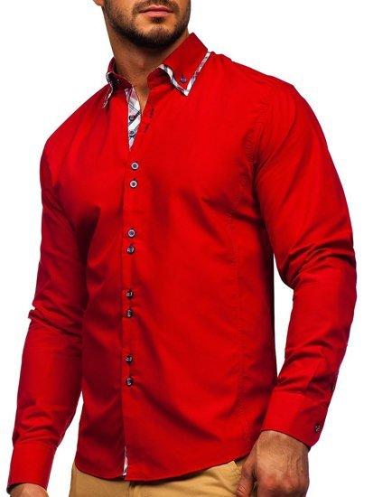 Рубашка мужская BOLF 4704 красная