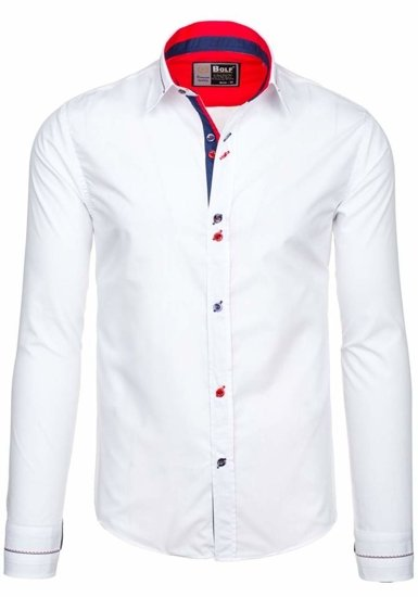 Рубашка мужская BOLF 5826 белая