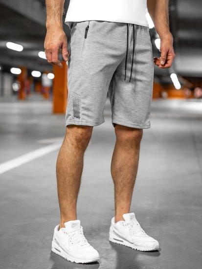 Серые мужские спортивные шорты Bolf JX205
