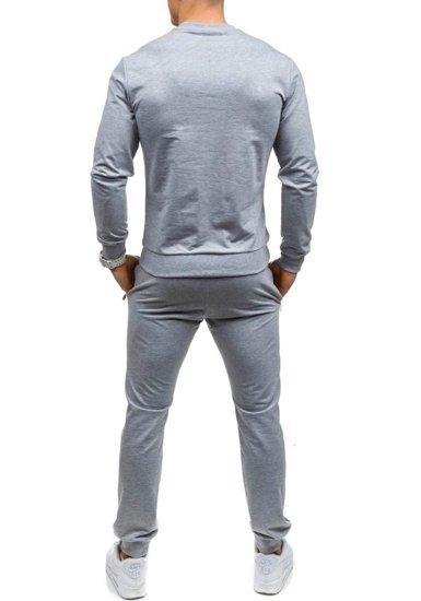 Спортивный костюм мужской ATHLETIC 0362 серый