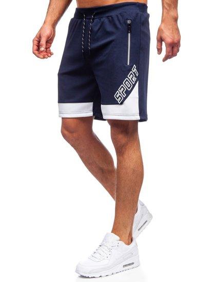 Темно-синие мужские спортивные шорты Bolf KS2606