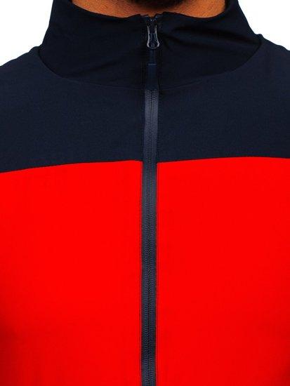 Темно-синяя куртка-ветровка мужская спортивная Bolf HM094