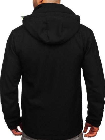 Черно-синяя мужская куртка софтшелл Bolf WX059
