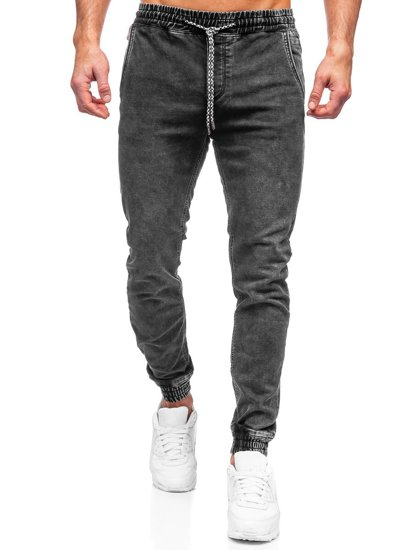 Черные мужские джинсы джоггеры Bolf KA2191