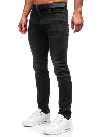 Черные мужские джинсы regular fit с ремнем Bolf 30054S0