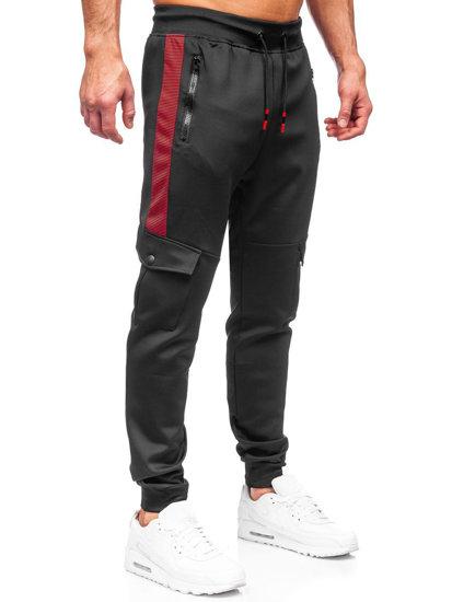 Черные мужские спортивные брюки карго Bolf K10283