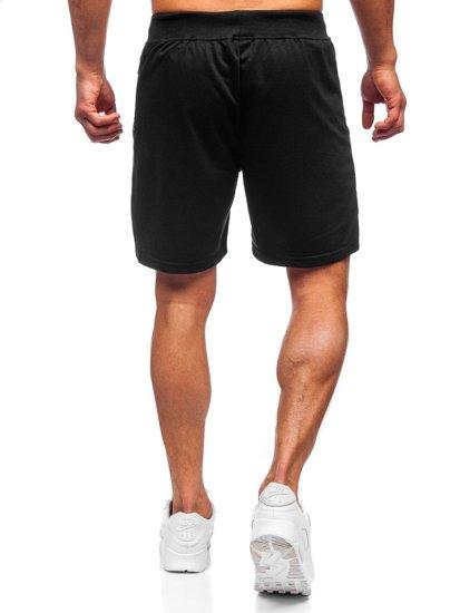 Черные мужские спортивные шорты Bolf KS2559