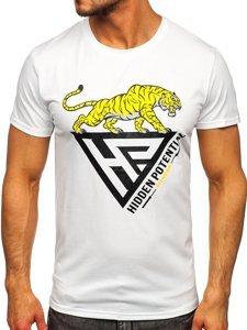Белая мужская футболка с принтом Bolf Y70013