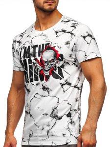 Белая мужская футболка с принтом Bolf Y70028