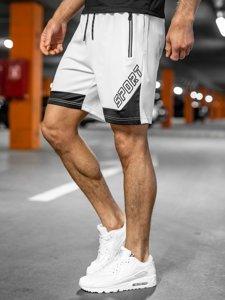 Белые мужские спортивные шорты Bolf KS2606