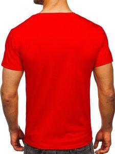 Красная мужская футболка с принтом Bolf Y70015