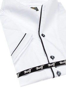 Мужская рубашка с коротким рукавом белая Bolf 5518