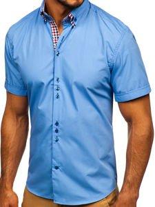 Рубашка мужская BOLF 3507 голубая