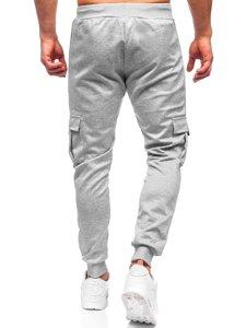 Серые мужские спортивные брюки карго Bolf K10281