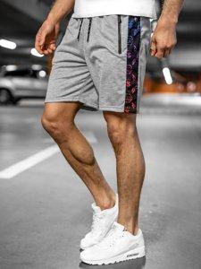Серые мужские спортивные шорты Bolf KS2578