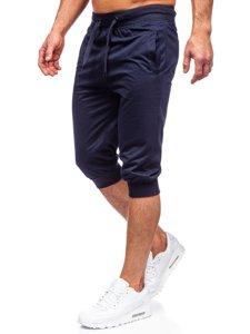 Темно-синие мужские спортивные шорты Bolf K10002