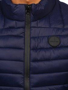 Темно-синий стеганый мужской жилет Bolf 58M891