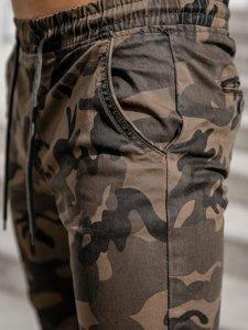 Хаки мужские брюки джоггеры камуфляж Bolf KA351