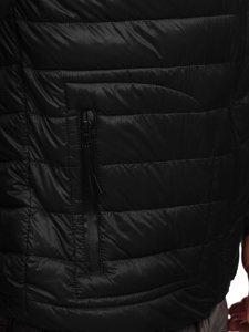 Черная стеганая демисезонная мужская куртка Bolf 13007