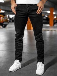 Черные мужские джинсовые брюки regular fit Bolf 8859