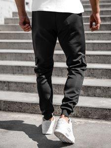 Черные мужские спортивные брюки Bolf K10276