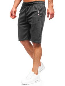 Черные мужские спортивные шорты Bolf JX130