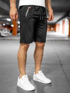 Черные мужские спортивные шорты Bolf JX503