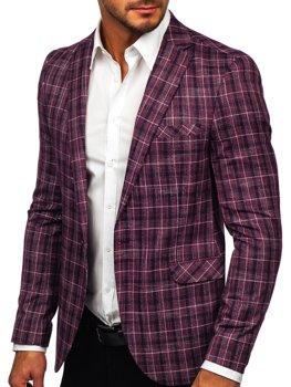 Бордовий чоловічий повсякденний піджак Bolf 8080