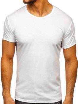 Біла футболка чоловіча без принта Bolf 2006