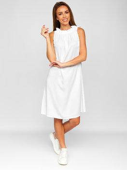 Біле жіноче плаття Bolf 9785