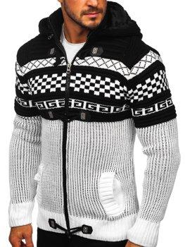 Білий чоловічий светр товстої в'язки Bolf 2061
