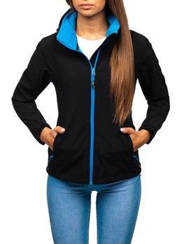 Жіноча демісезонна куртка софтшелл чорна Bolf AB056