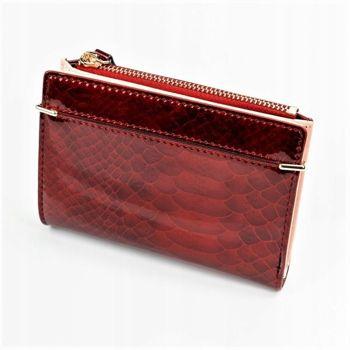 Жіночий гаманець з еко шкіри червоний 1054