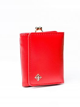 Жіночий гаманець з еко шкіри червоний 3003