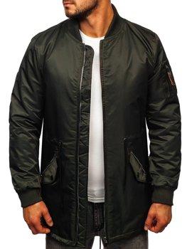 Зелена чоловіча демісезонна куртка парку Bolf JK363