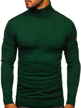 Зелений чоловічий светр гольф Bolf YY02