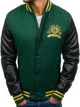Зимова чоловіча спортивна куртка зелена Bolf k18