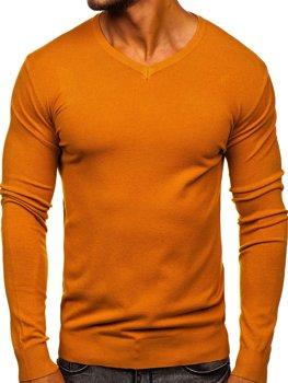 Кемел чоловічий светр з V-подібним вирізом Bolf YY03